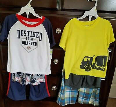 NWT lot of 2 Carter's 3 piece sleepwear sets, size 4T