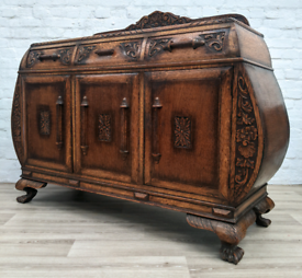 Continental Carved Sideboard (DELIVERY AVAILABLE)