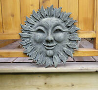 SMILING SUN Face Gate / Fence Decoration - Hanging Sign