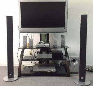 Panasonic & Sony Loud Speakers Subwoofer Home Theatre System