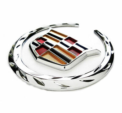 "Fit Cadillac Front Grille 6"" Emblem Hood Badge Logo Chrome Color Symbol Ornament"