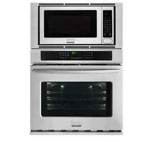 Frigidaire Gallery FGMC3065PF 30in Self Clean Electric Wall-Oven-Microwave Combination 4.6 Cu. Ft. Smudge-Proof Stainles
