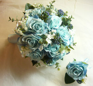 "Light Blue Is Back For 2017 ""Wedding Bouquet Flowers Set. London Ontario image 3"
