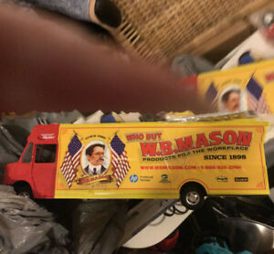 Collectible truck and misc  W.B. Mason
