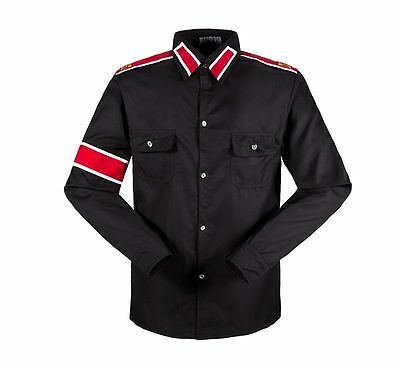 Unisex MJ Casual Shirts Michael Jackson CTE Armband Epaulet Shirt Costume NEW - Mj Costume