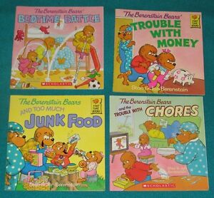 Berenstain Bears Book Collection and Big Stuffie Bear