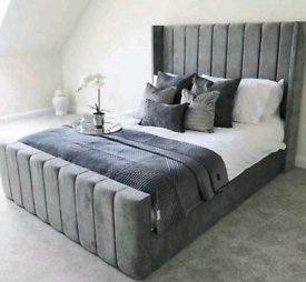 🎗💤NEW LUXURY PLUSH WING BACK BEDS ON SALE. ANY COLOUR DOUBLE KING