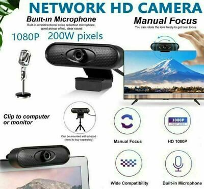 1080P Full HD Webcam USB for PC Desktop and Laptop Web Camera with Microphone #
