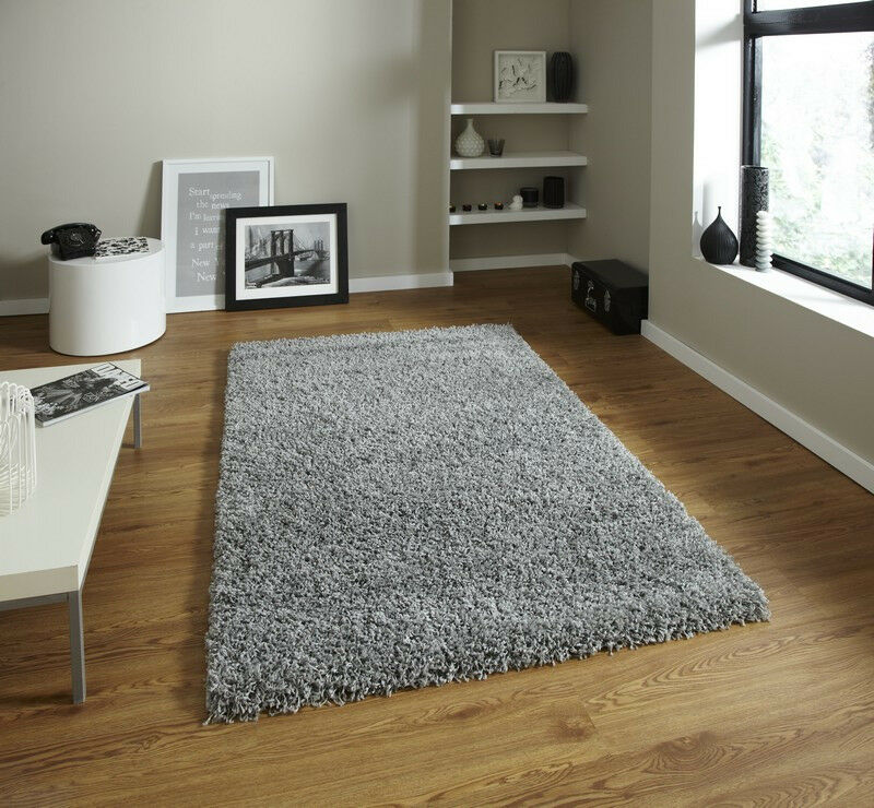 New Thick Shaggy Rugs Choice Of 3 Grey Silver Black Cream In Hull