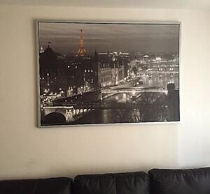 Grosse image/cadre de la ville de Paris, 80$ chez ikea