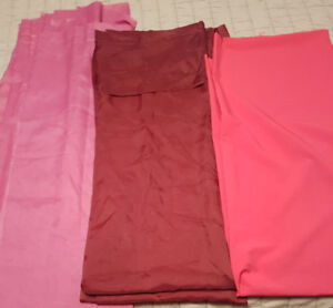 Set of 3 Colored Sheer Polyester Curtain Panels (5 items)