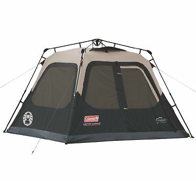 Coleman Outdoor Family Camping 4 Person 8 x 7 Foot Waterproof Instant Cabin Tent