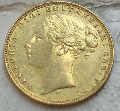 "1873-M AUSTRALIA GOLD SOVEREIGN..  VICTORIA   ""YOUNG HEAD"""