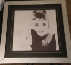 Audrey Hepburn Mirrored Wall Art
