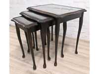 Queen Anne Style Nest Of Tables (DELIVERY AVAILABLE)