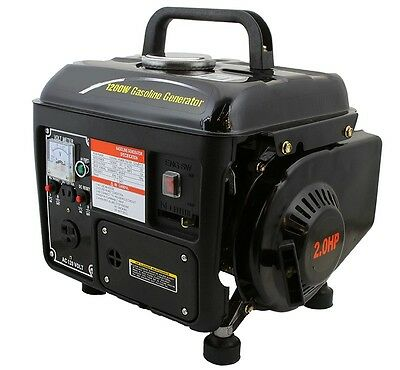 Gasoline Electric Power Generator 63CC 2 Stroke 2HP 3600RPM 1200W EPA Approved