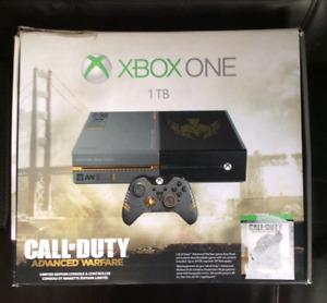 Xbox One 1TB limited edition advance wafare