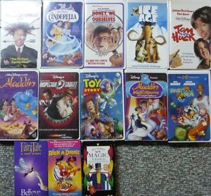 Assorted Children's VHS Movies