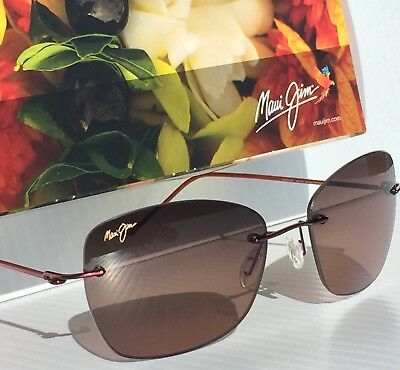 c4b27275554f NEW  Maui Jim APAPANE Rimless w Rose POLARIZED Lens Women s Sunglass  RS717-07
