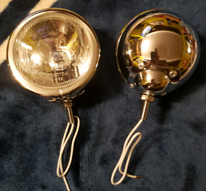BRAND NEW CHROME DRIVING/PASSING/FOG LIGHTS FOR MOTORCYCLE