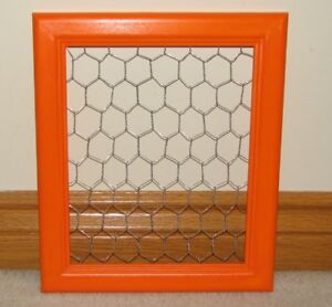 Display Frame with Chickenwire