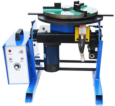 New 110v Machine 100kg Duty Welding Positioner Turntable Timing With 400mm Chuck