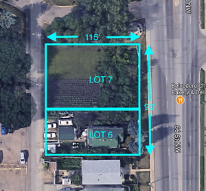 BLOWOUT PRICE Large 2 lot Parcel,RA7, 10350sqft lot, 66 st front