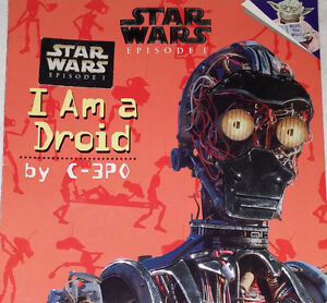 Qty 9 x Star Wars Toy Figures and I am a Droid Book