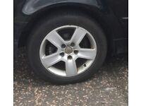 Audi alloys 16 5x112 good tyres set 4