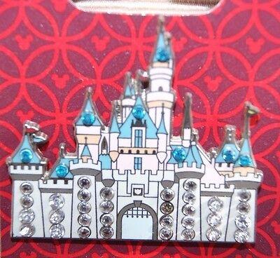 Disney DLR Sleeping Beauty Castle With Jewels Jeweled Gem Pin