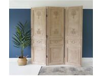 French Panel Room Divider Screen