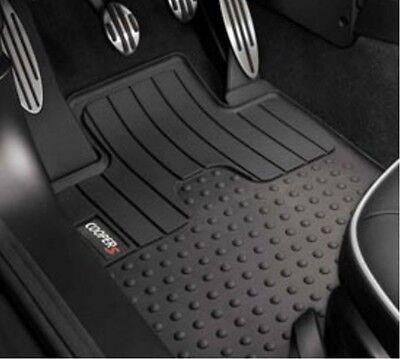 2 Pc OEM Mini Cooper Rubber Floor Mat Set Front Cooper S Logo 51472243908