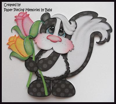 Skunk Premade Paper Piecing Die Cut for Scrapbook Page by Babs