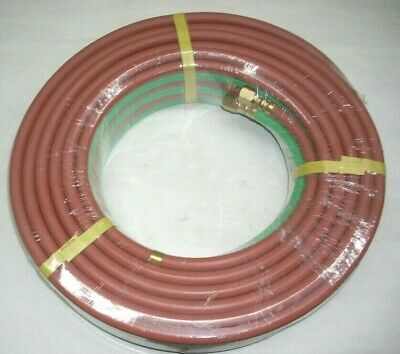 Twin Welding Hose 14 X 50 Grade T For Oxygen Propane Or Lp Gas Torch Cutting