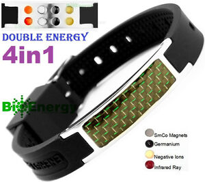 Anion-Magnetic-Energy-Germanium-Power-Bracelet-Health-4in1-Bio-Armband-BAND