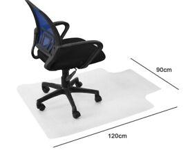 Chair Mat Carpet Protector - transparent - T shape