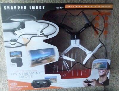 Sharper Image FPV Streaming Drone w/VR Headset 1st Person Viewing NIB RP $169.99