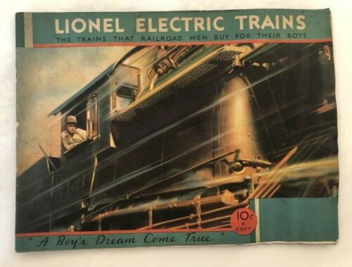 1932 LIONEL Toy TRAINS CATALOG Vintage Advertising