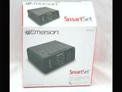 Emerson SmartSet Alarm Clock Radio with AM/FM Radio, Dimmer, Sleep Timer and .9