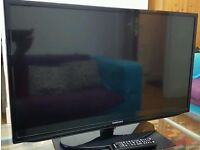 SAMSUNG 32 INCH SLIM FULL HD 1080P LED TV WITH REMOTE AND STAND IN BOX not LG SONY TOSHIBA