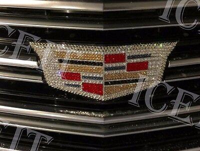 Cadillac 2015-17 ATS Front Grill Emblem made with Swarovski Crystals