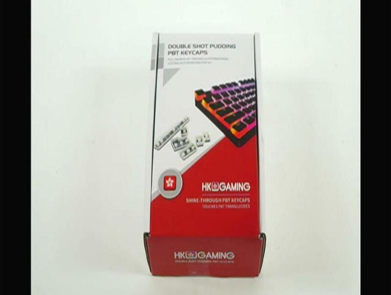 HK Gaming 108 Double Shot PBT Pudding Keycaps Keyset for Mechanical Gaming Keybo