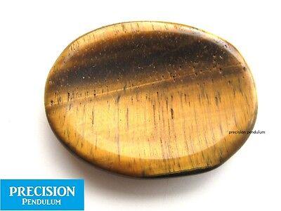 (Tiger Eye Amulet Gemstone Thumb Palm Chakra Healing Therapy Worry Stone Cabochon)