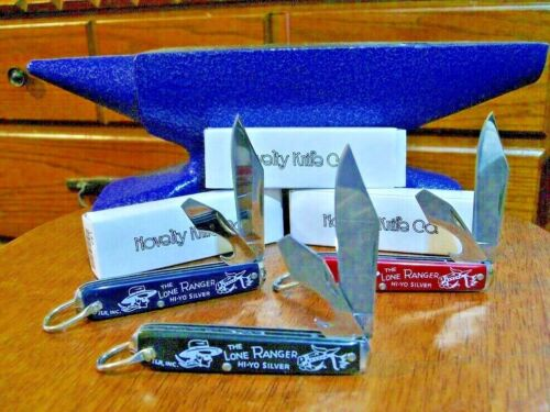 3 PC Lone Ranger Pocket knife Silver Bullet Set Free Shipping USA