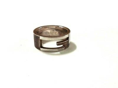 Auth GUCCI Silver Ring #13 (US size : 6 1/2 )