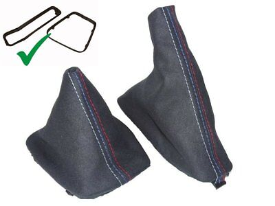 Shift & E Brake Boot For BMW E36 91-99 With Inner Plastic Frame Suede M3