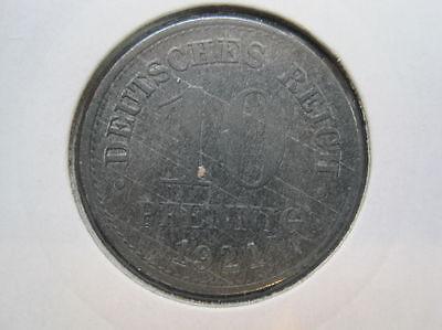 Deutsches Reich 10 Pfennig 1921 Zink (097)