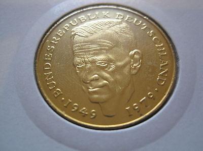 BRD  2 ,-  D-Mark  1989 J   vergoldet (425)