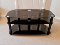 Black glass TV/Entertainment stand for sale - Perfect condition