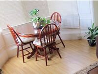 FREE round dining table and 4 chairs - must collect by 27th March